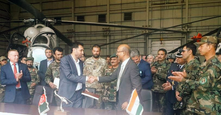 India gifts 2 Mi–24V helicopter gunships to Afghanistan to